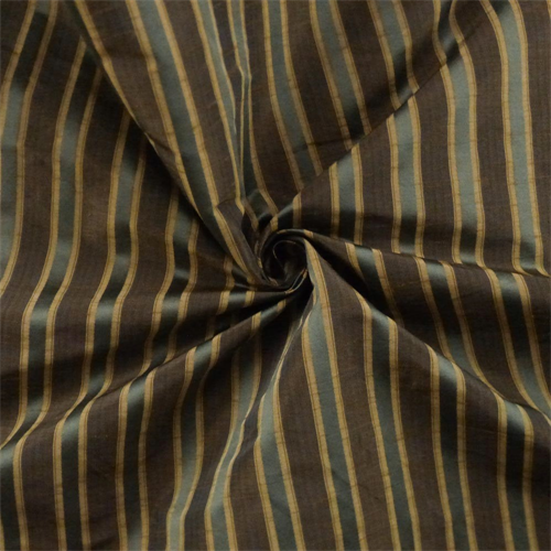 Chocolate Brown/Multi Shantung Stripe Drapery Fabric, Fabric By the Yard