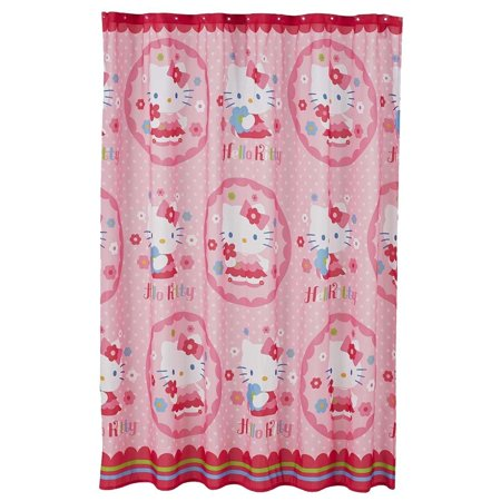 Hello Kitty Fabric Shower Curtain By Sanrio ()