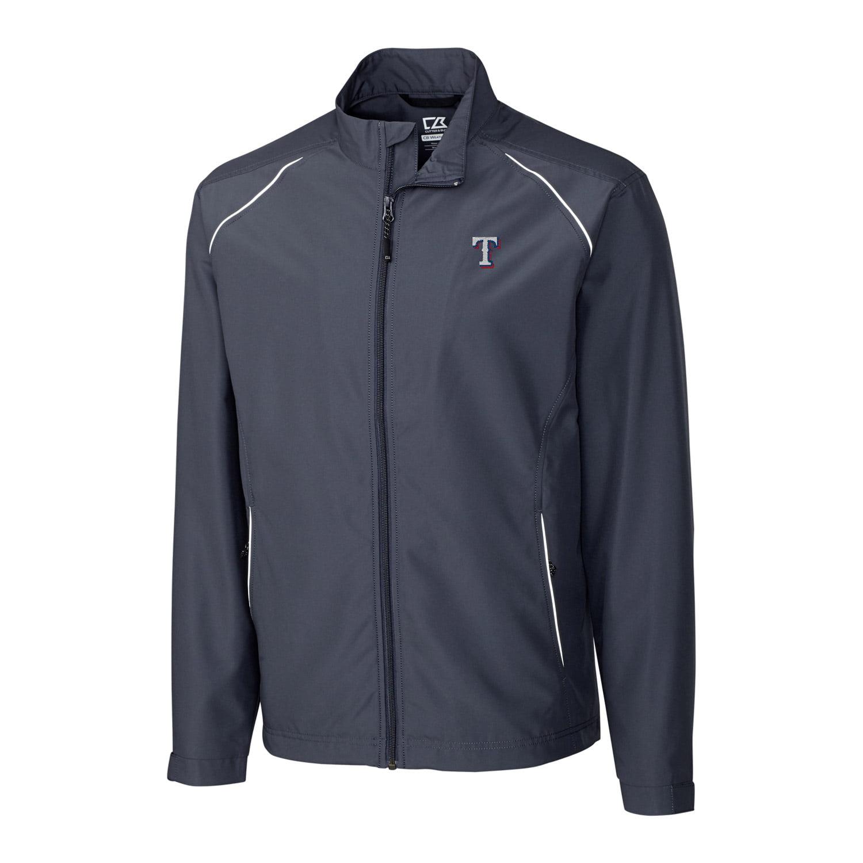 Texas Rangers Cutter & Buck Big & Tall WeatherTec Beacon Full Zip Jacket - Charcoal