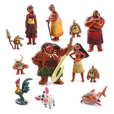 12 Pcs Pvc Action Minifigures Disney Movie Moana Decoration Mini Figures Toys