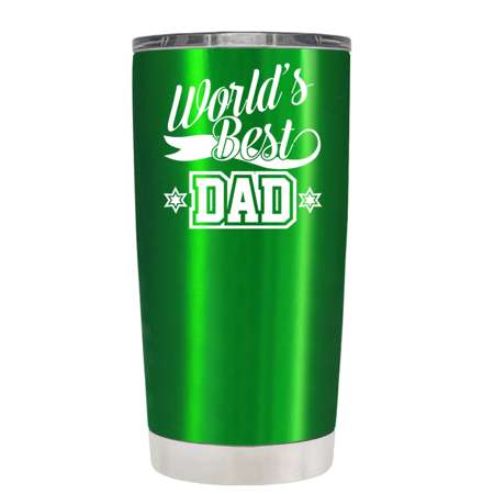 Trek Green Translucent 20 Oz Worlds Best Dad Tumbler