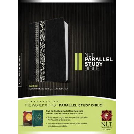 Parallel Full Fabric Panels (NLT Parallel Study Bible, Floral TuTone (LeatherLike, Black/Ornate Floral Fabric))