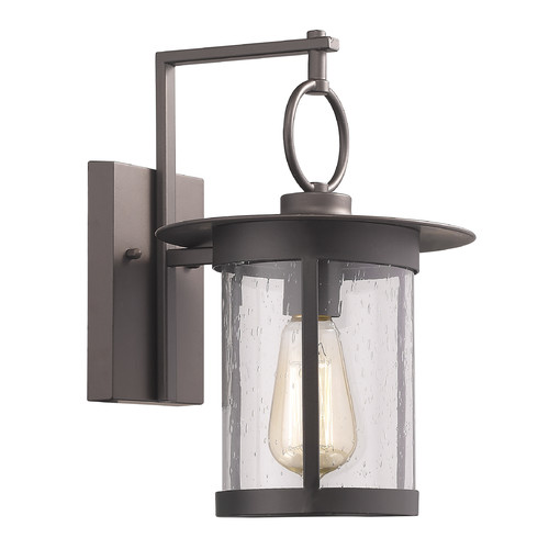 "CHLOE Lighting GRIFLET Transitional 1 Light Rubbed Bronze Outdoor Wall Sconce 12"" Height"
