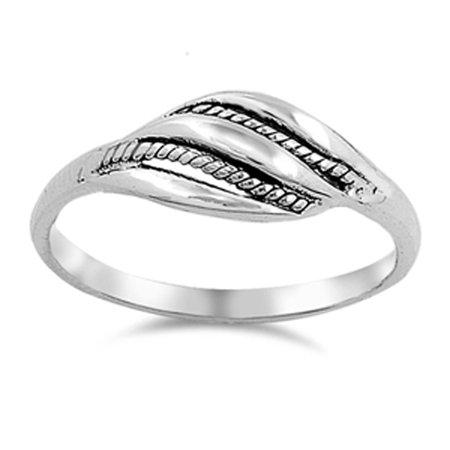 Bali Sterling Silver Box (Bali Twisted Rope Wave Loop Knot Ring ( Sizes 4 5 6 7 8 9 10 ) New .925 Sterling Silver Band Rings by Sac Silver (Size 8) )