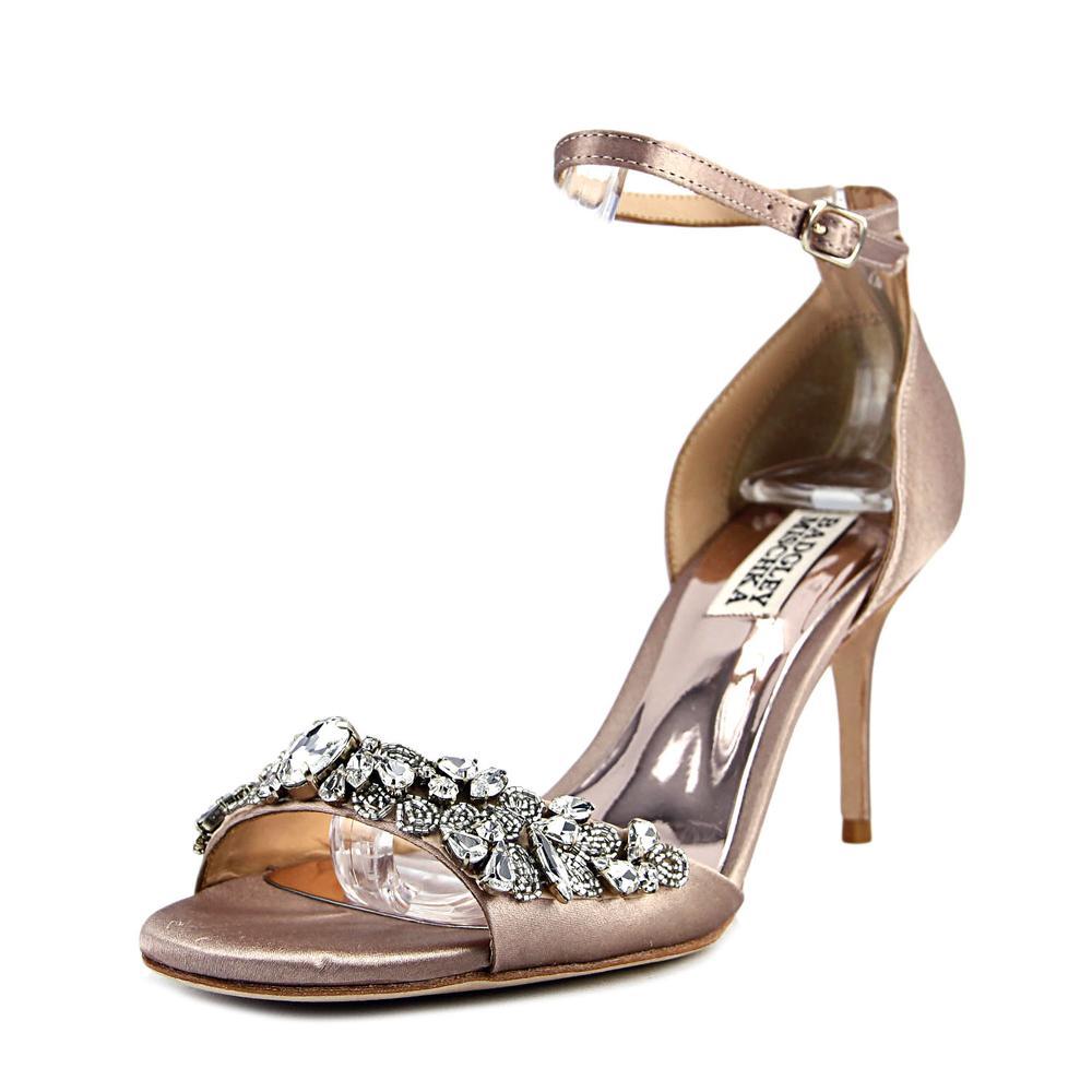 Badgley Mischka Bankston Open Toe Canvas Sandals by Badgley Mischka