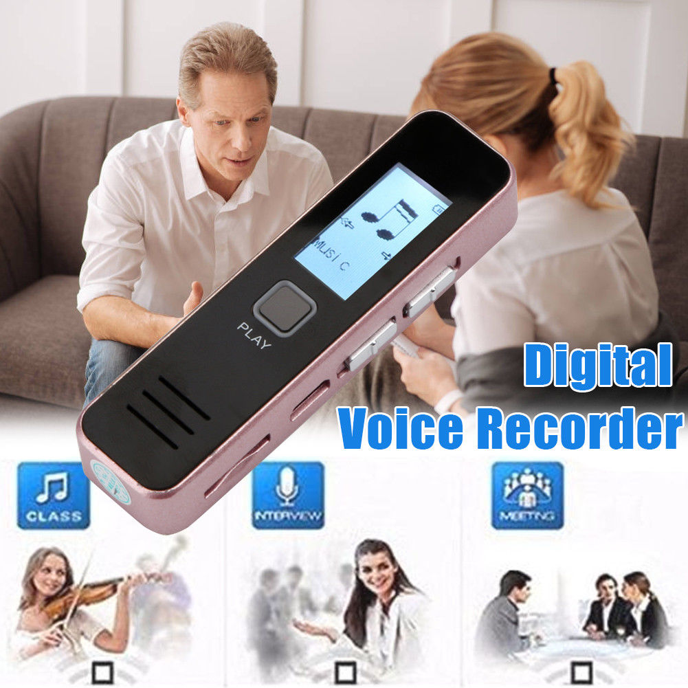 32GB Digital USB Voice Recorder Dictaphone Rechargeable Display MP3 Player Flash