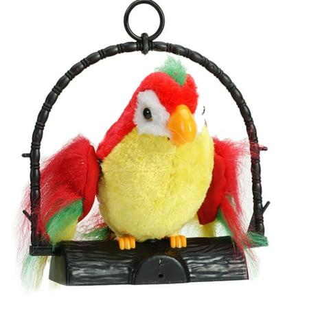 Waving Wings Talking Talk Parrot Imitates & Repeats What You Say Gift Funny