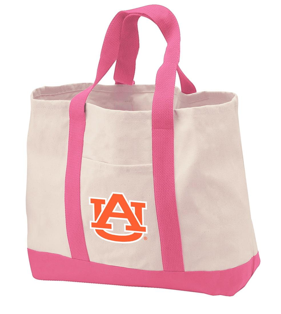 Auburn Tote Bag CANVAS Auburn Tote Bags for TRAVEL BEACH SHOPPING