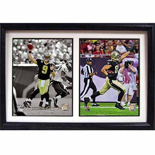 NFL New Orleans Saints Dynamic Duo 12x18 Double Frame
