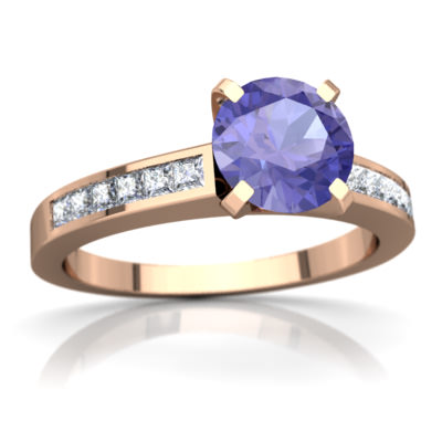 Tanzanite Channel Set Ring in 14K Rose Gold by