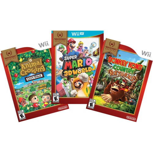 3 Nintendo Selects Games Value Bundle (Nintendo Wii U and Wii)