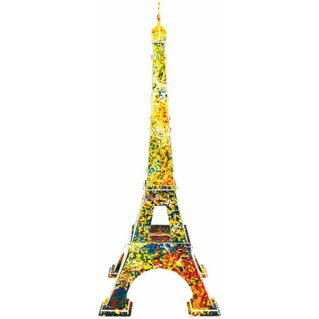 Eiffel Tower Festival with Artist Ywes Charnay 3D Puzzle, 46 Pieces