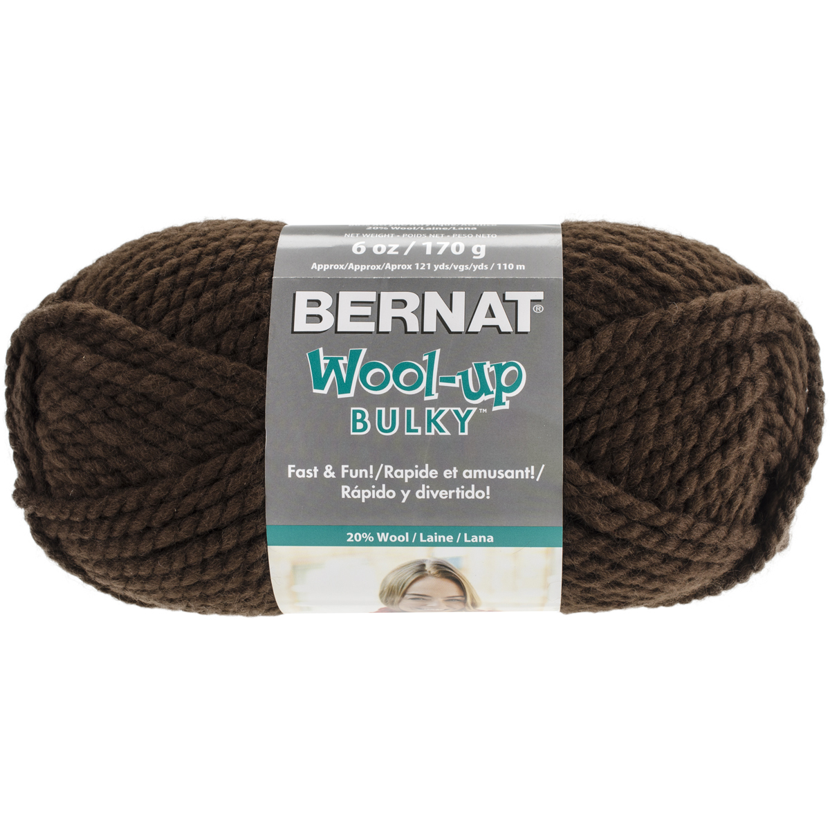 Spinrite Wool-Up Bulky Yarn, Brown Multi-Colored