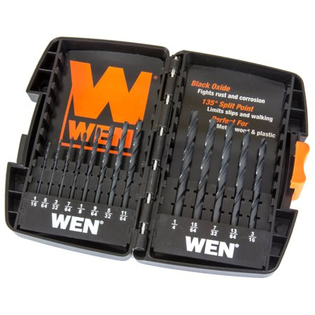 WEN 13-Piece Black Oxide Drill Bit Set