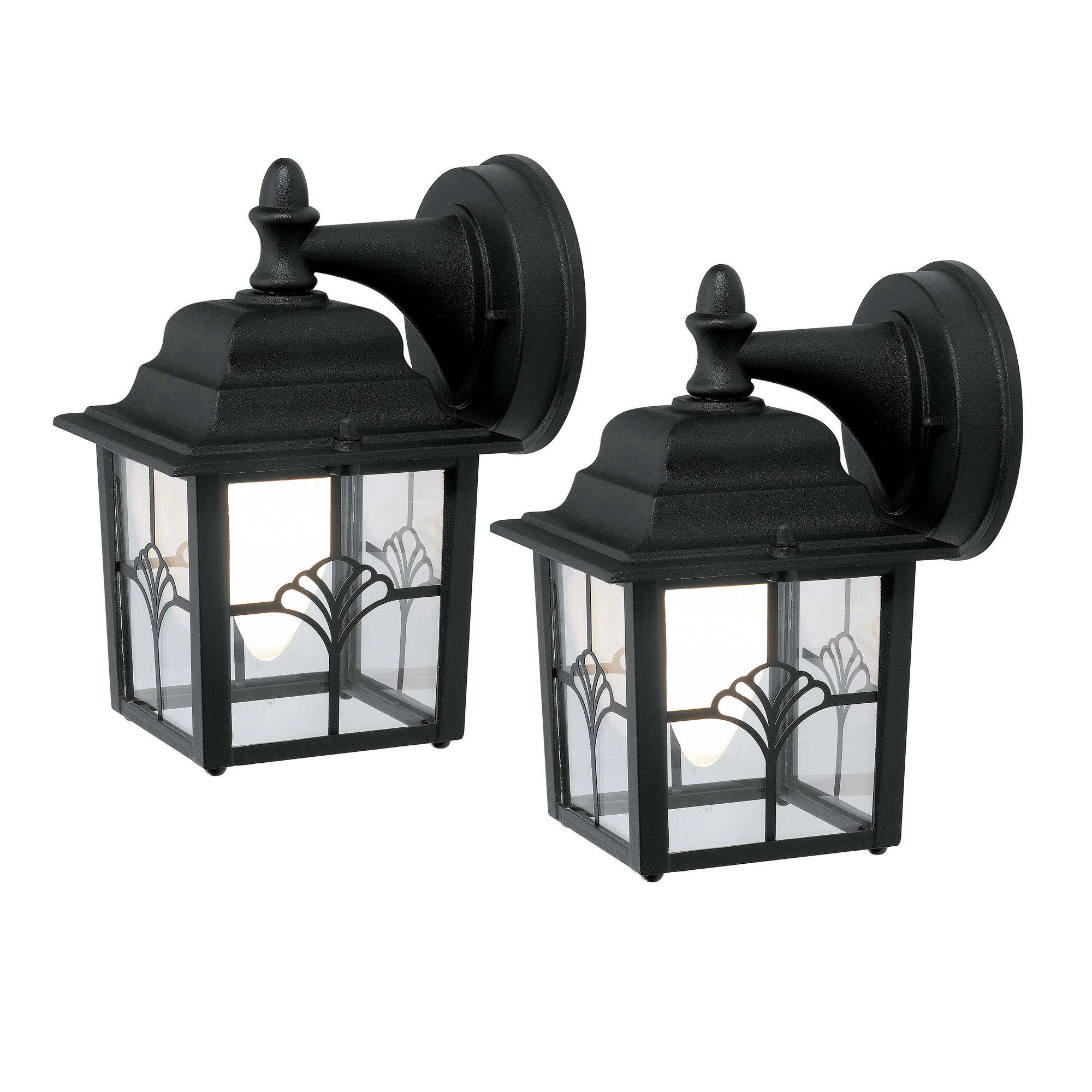 Chapter Decorative Coach Light W Led Bulb 2 Pack Black Finish Walmart Com Walmart Com