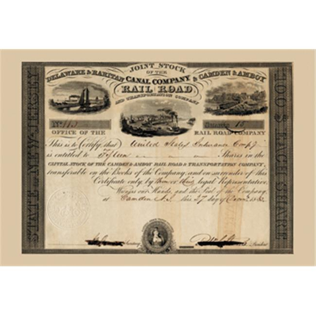 Buy Enlarge 0-587-17503-6P12x18 Delaware and Raritan Canal Company- Paper Size P12x18