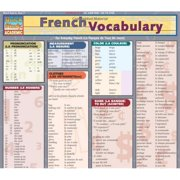 BarCharts 9781423220725 French Vocabulary Quickstudy Easel