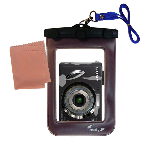 Gomadic Waterproof Camera Protective Bag Suitable For The Sony Dsc - w17  -  Unique Floating Design Keeps Camera Clean And Dry