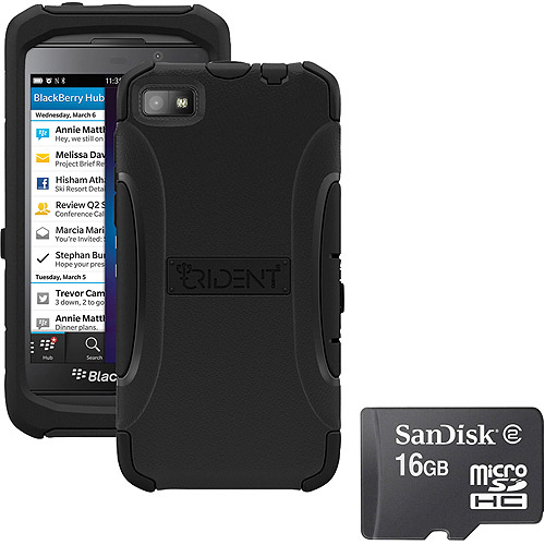 Trident Z10 Aegis Case Black With Sandisk Micro Sd 16gb