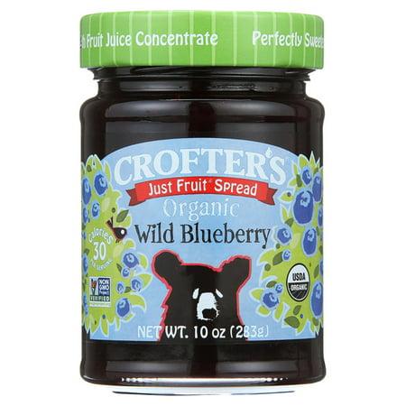 Crofters Just Fruit Spread   Wild Blueberry 10 Oz Jars   Single Pack