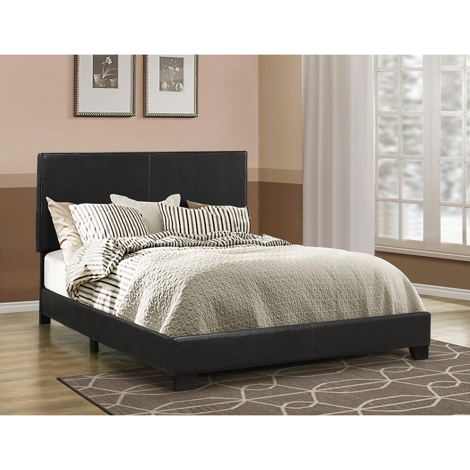 Dorian Upholstered Bed in Black (Queen)