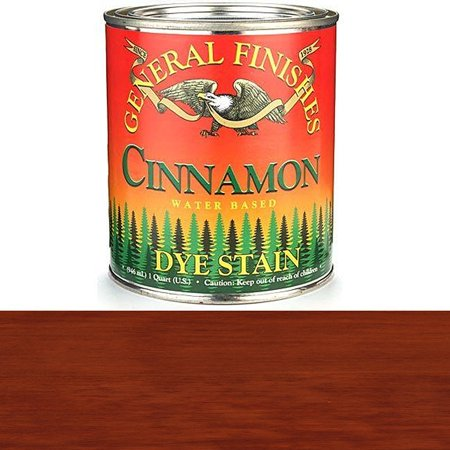 DQC Water Based Dye, 1 quart, Cinnamon, Ultra penetrating wood Stains By General Finishes From (Wood Dye)