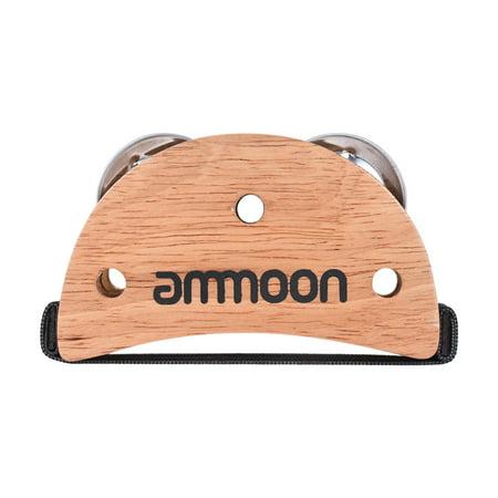 ammoon Elliptical Cajon Box Drum Accessory Foot Jingle Tambourine for Hand Percussion Instruments Burlywood - image 4 of 7