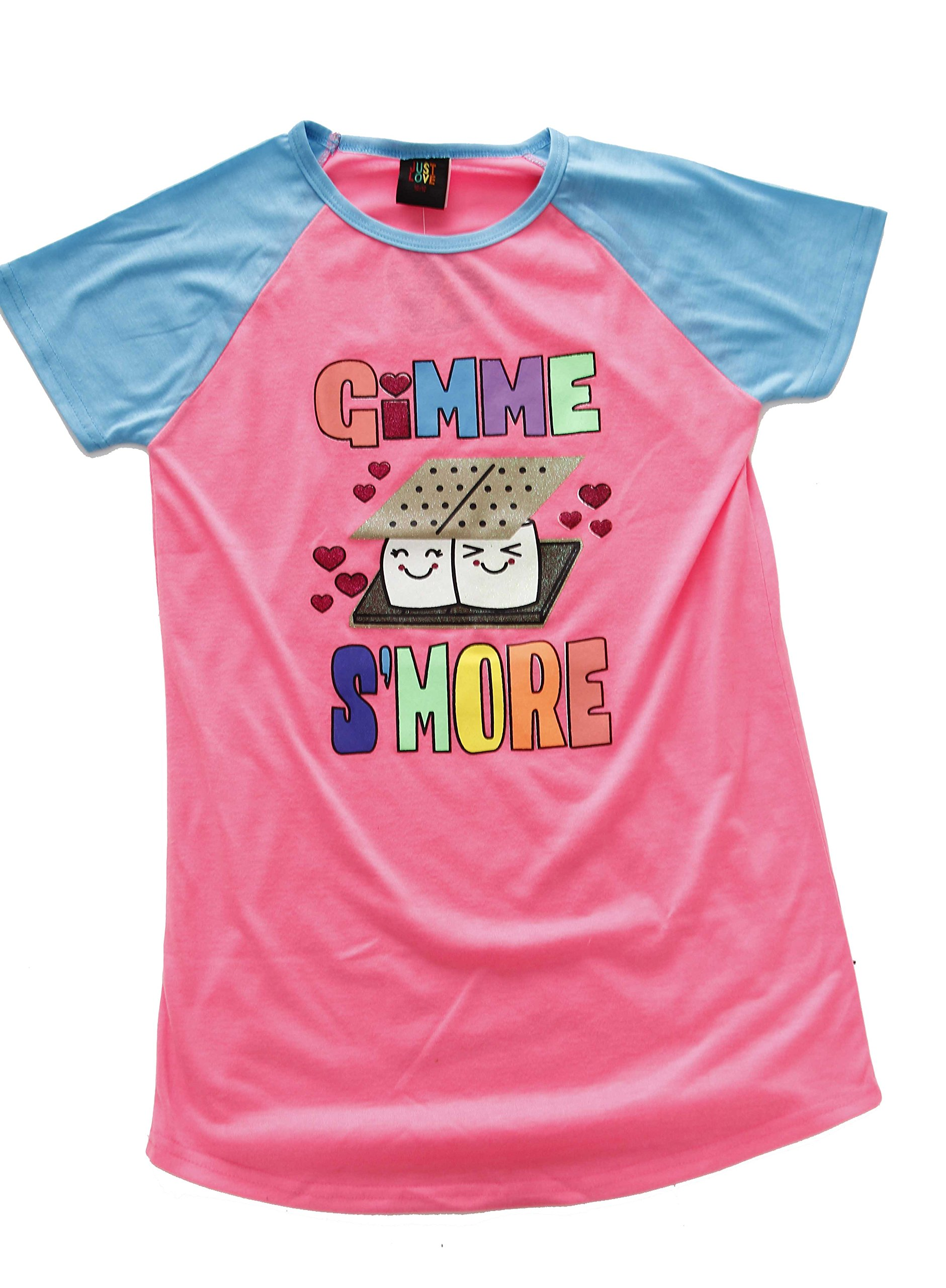 Just Love Nightgown / Sleep Shirt for Girls (Gimme S'more, 6/6X)