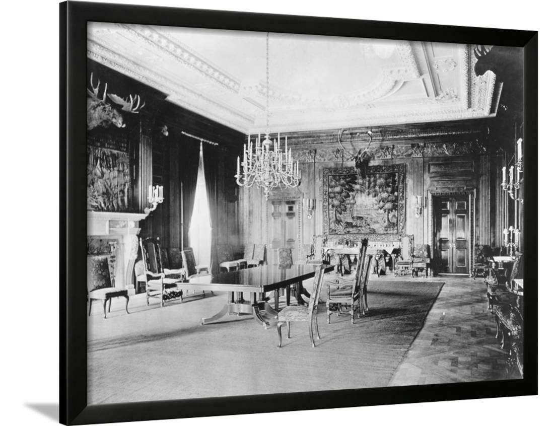 Exceptionnel Interior Of Early State Dining Room Of White House Framed Print Wall Art