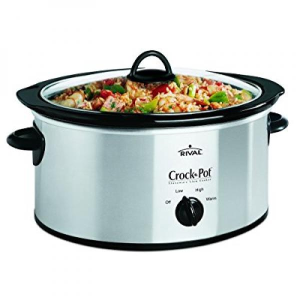 Rival Crock-Pot SCV400-SS 4-Quart Slow Cooker, Stainless ...
