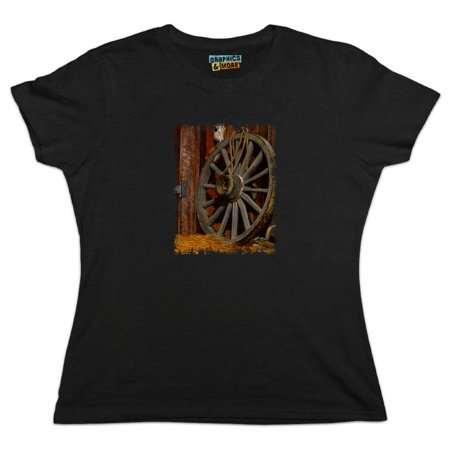 Wagon Wheel and Chipmunk Women's Novelty T-Shirt
