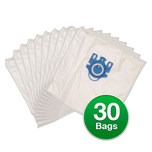 Replacement Type G/N Allergen Plastic Collar Vacuum Bags For Miele Olympus S2121 Vacuums - 6 Pack