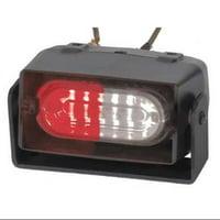CODE 3 ESX1RD-RW Sngl Hd Dash/Deck Light,LED,Rd/Wh,3-3/4W