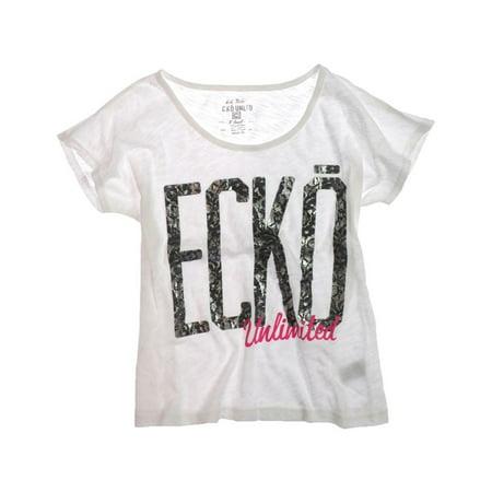 Womens Open Neck Shirt - Ecko Unltd. Womens Lace Open Neck Graphic T-Shirt