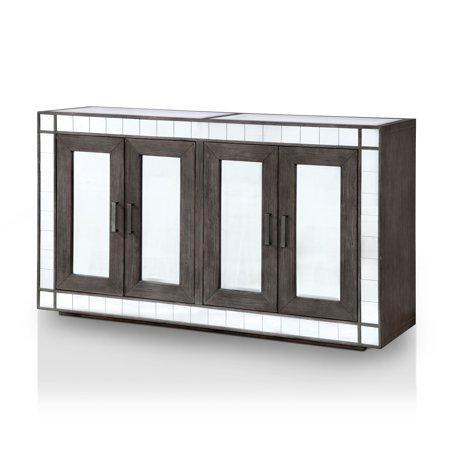 Furniture of America Tendal Contemporary Dining Server, Dark Gray