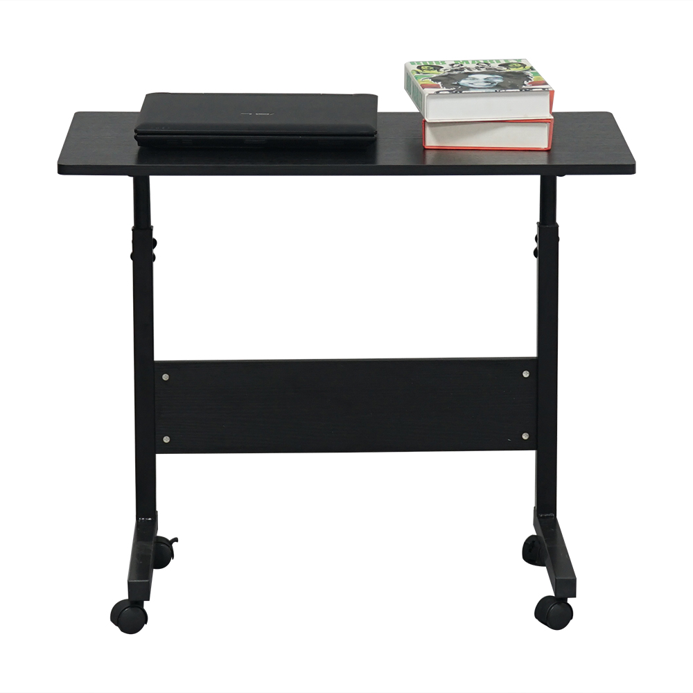 Laptop Stands with Wheels, Sturdy Laptop Desk with 4 Casters, Rustproof Small Computer Desk with ...