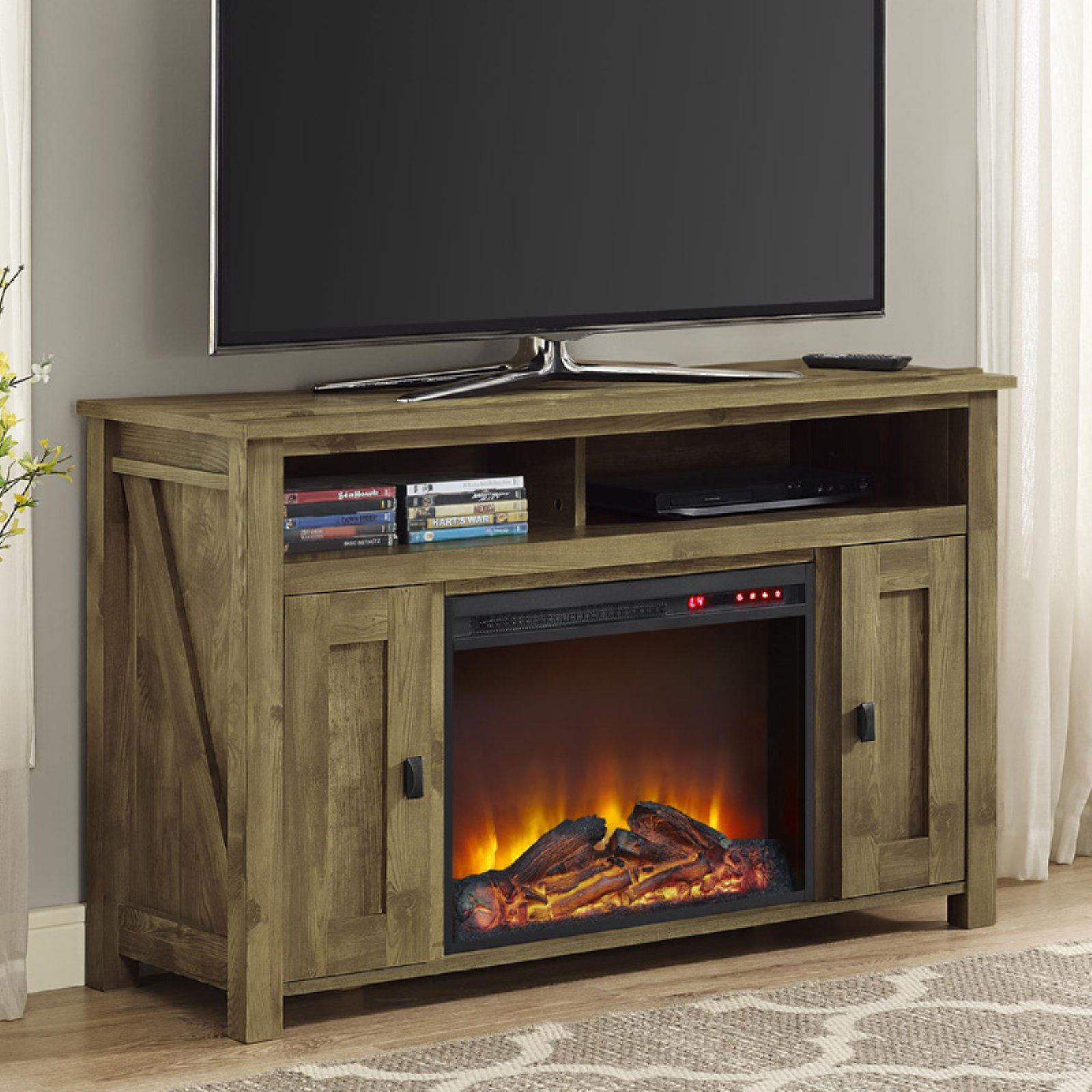 Farmington Electric Fireplace TV Console for TVs, Multiple Colors and Sizes
