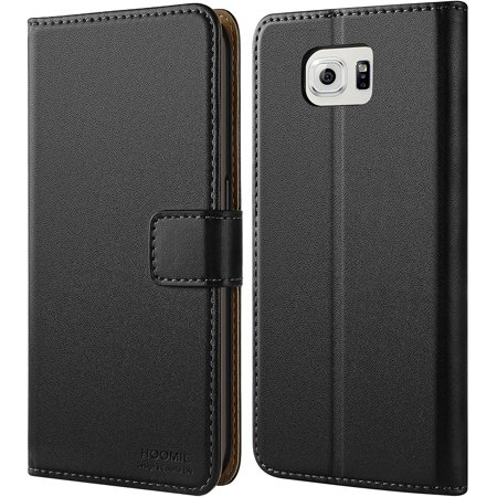 Samsung Galaxy S6 Case, HOOMIL Premium Samsung Galaxy S6 Leather Folio Case, Flip Book Style Wallet Cover with TPU - image 5 de 5