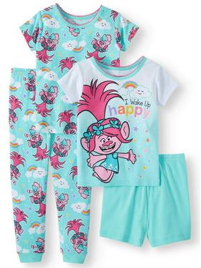 43e1fd994 Product Image Trolls Cotton tight fit pajamas, 4pc set (toddler girls)