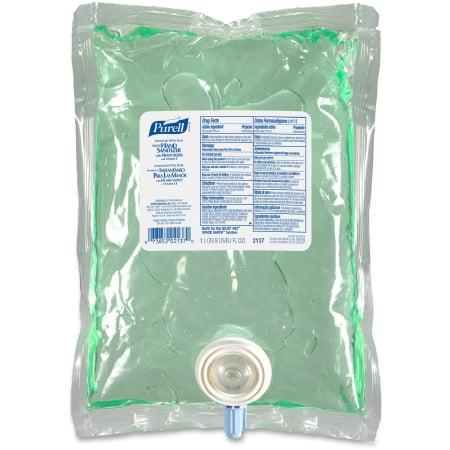 Purell Advanced Hand Sanitizer with Aloe  1000 mL Alcohol (Ethyl) Gel Dispenser Refill Bag PK/8