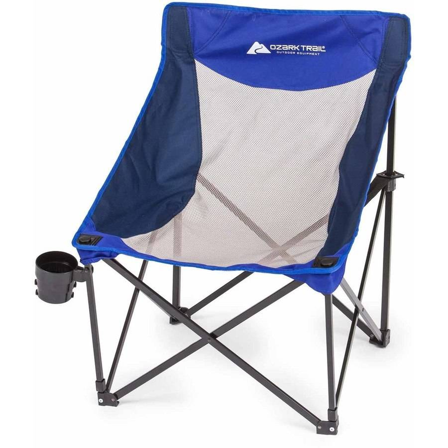 Marvelous Ozark Trail Compact Sport Chair With Steel Frame, Blue