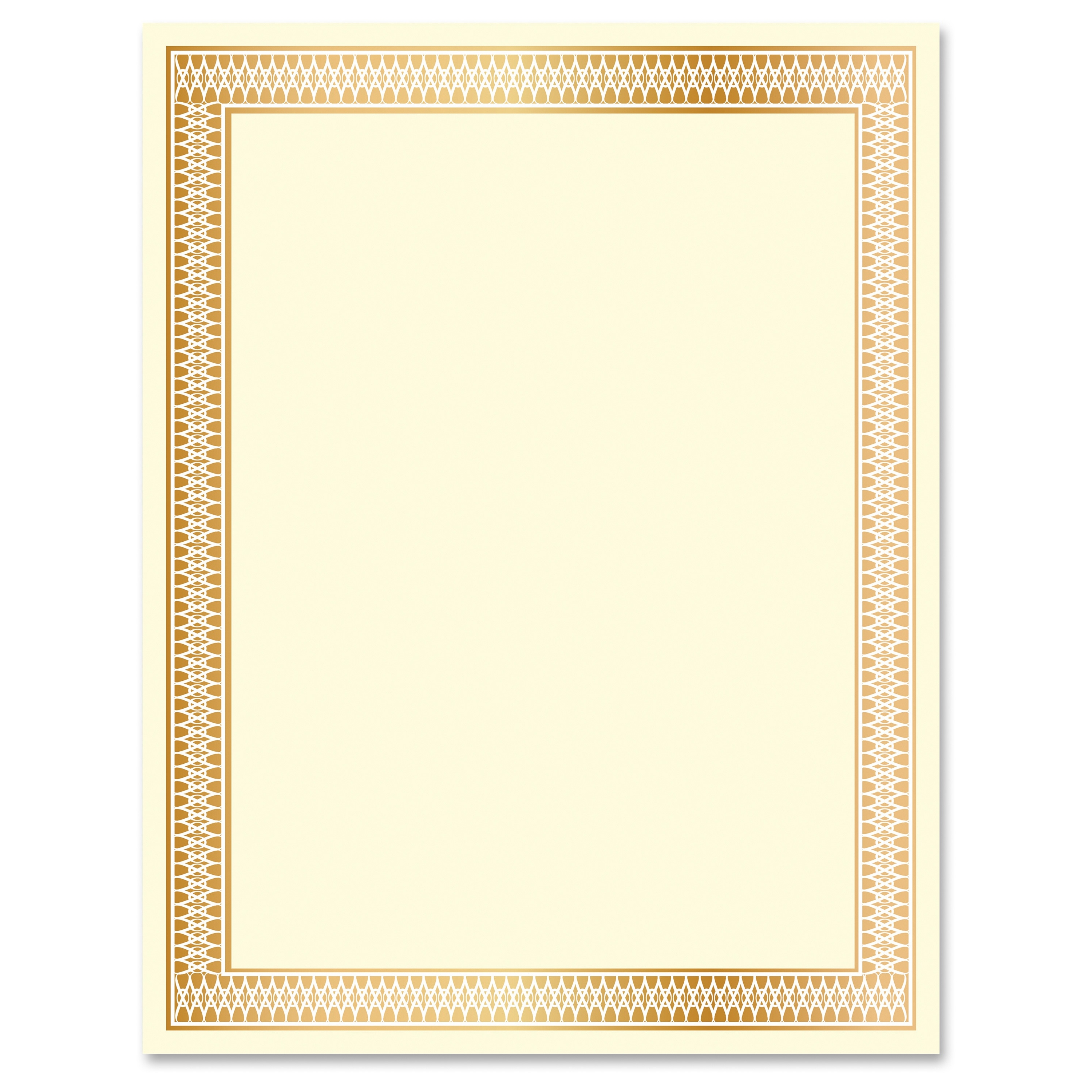 Geographics Traditional Award Certificates - Laser, Inkjet Compatible - Gold (geo-47833)