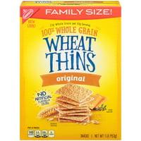 Nabisco Wheat Thins Original Crackers Family Size, 16 Oz.