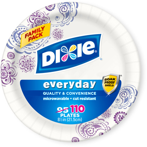 "Dixie Everyday Paper Plates, 8.5"", 110 count"