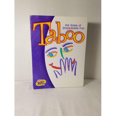 Taboo - the Game of Unspeakable Fun (2000 Edition), For Adult By Milton Bradley Ship from US