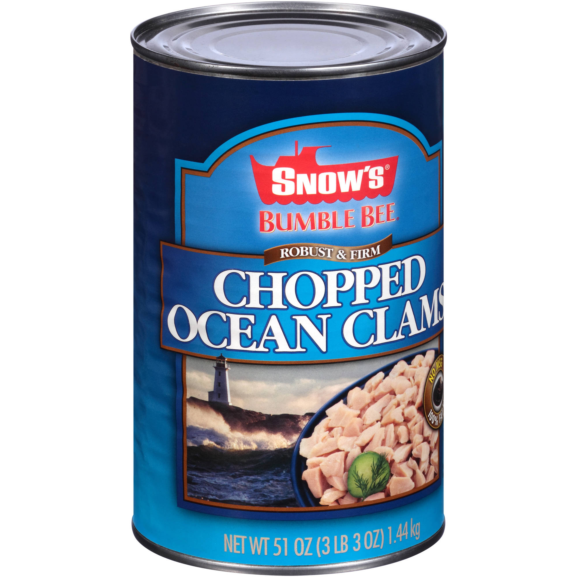 Snow's Bumble Bee Robust & Firm Chopped Ocean Clams, 51 oz