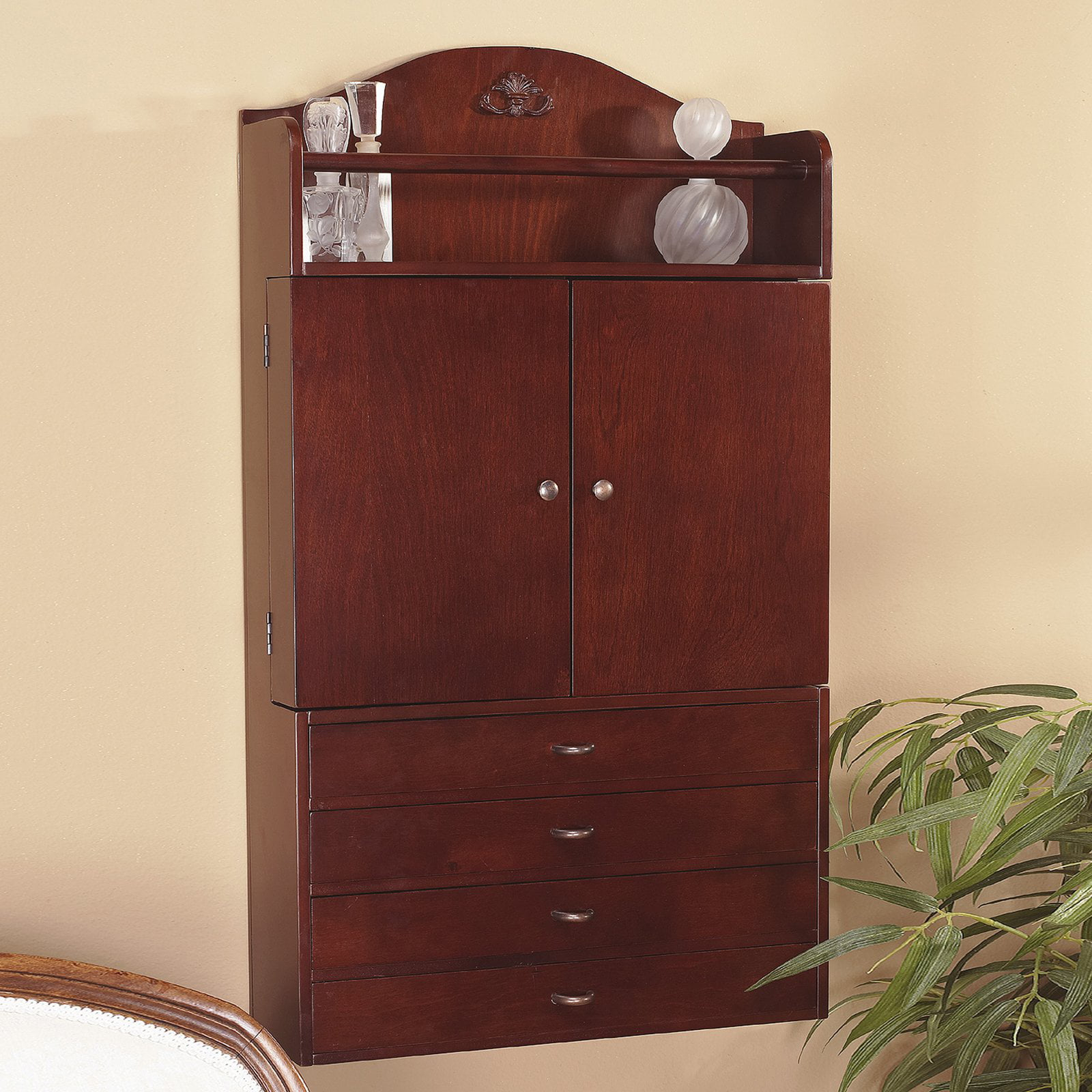 Wall-Mount Jewelry Armoire - Walmart.com