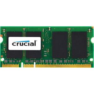 Crucial 2GB DDR2 SDRAM Memory Module - 2 GB (1 x 2 GB) - DDR2 SDRAM - 800 MHz DDR2-800/PC2-6400 - 1.80 V - Non-ECC - Unbuffered - 200-pin - SoDIMM MAC CL6 SODIMM 200PIN