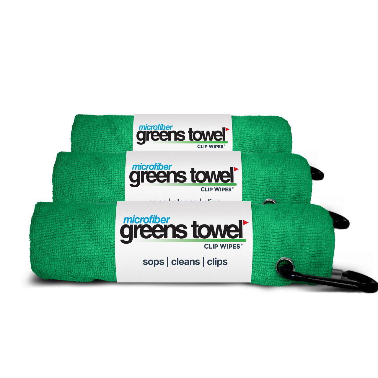 Microfiber Greens Towel Jet Black 3 Pack