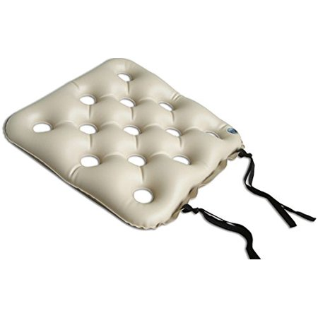 Wheelchair Seat Cushion, Pre-Inflated, 19 x 19 Inch, 350 Pound Capacity, 1314WCC1919 (Pack of 1), Provides pressure relief By MediChoice Ship from US
